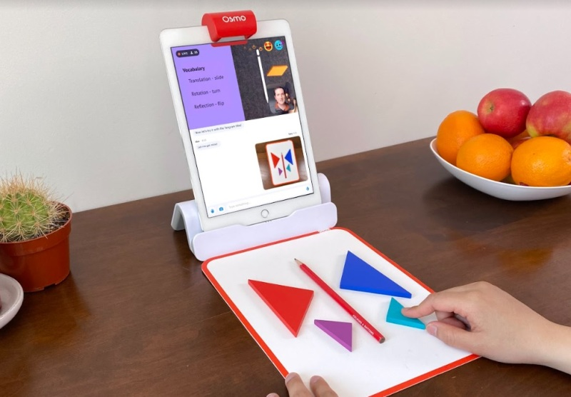 Osmo helps children understand problems by using physical toys.