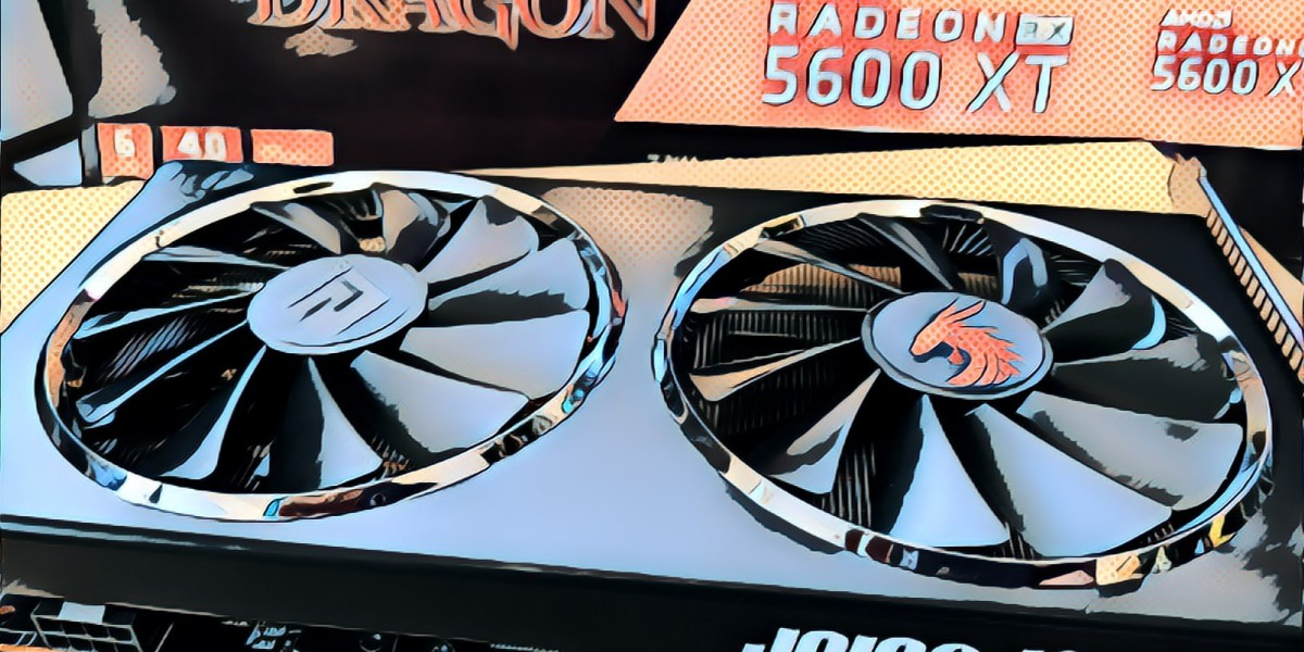 The PowerColor Red Dragon Radeon RX 5600 XT video card.