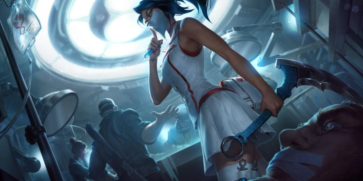 Nurse Akali in League of Legends