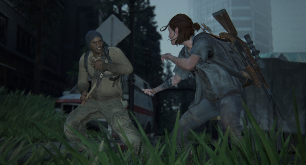Hand to hand combat in The Last of Us Part II.