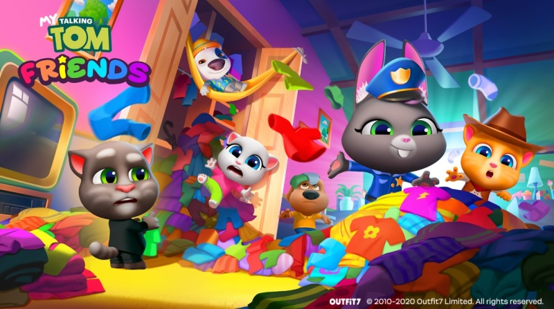 Six characters are part of My Talking Tom Friends.