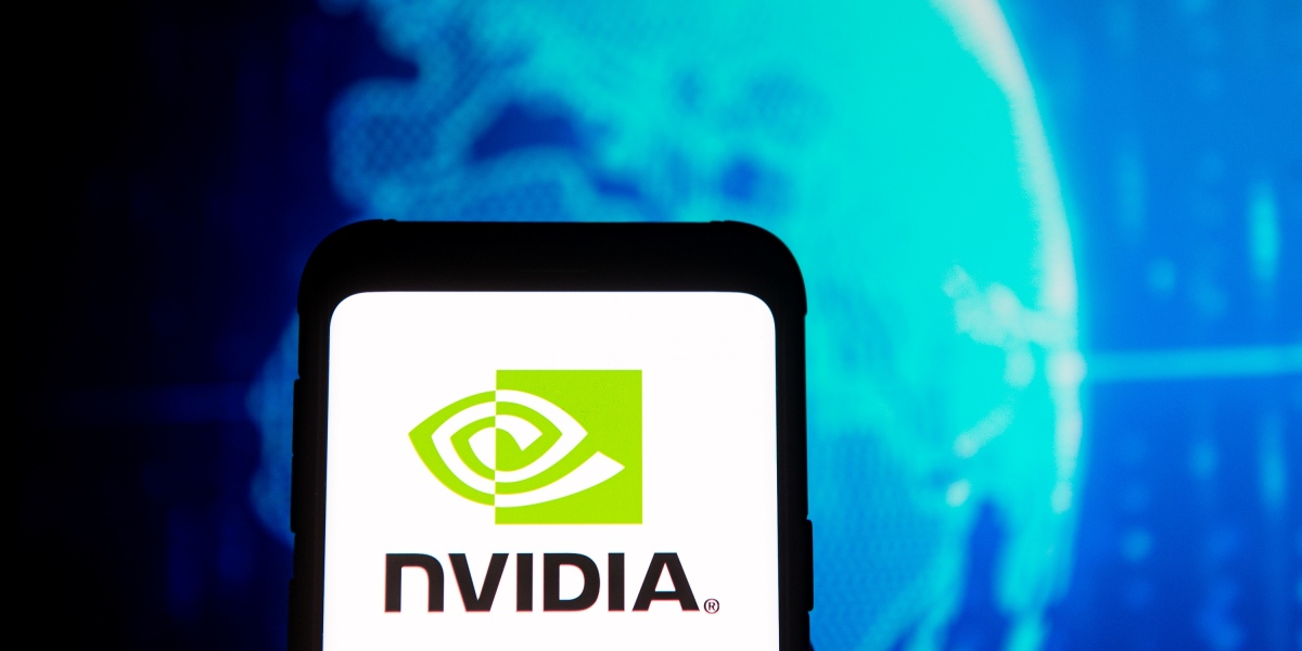 A Nvidia logo seen displayed on a smartphone