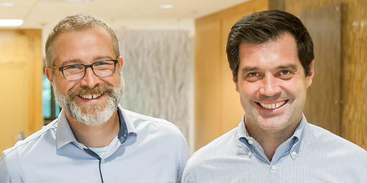 6 River Systems co-CEOs Jerome Dubois and Rylan Hamilton