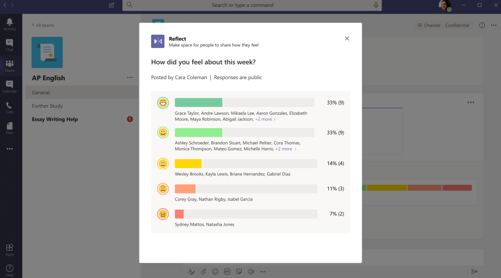 Microsoft Teams reflect messaging