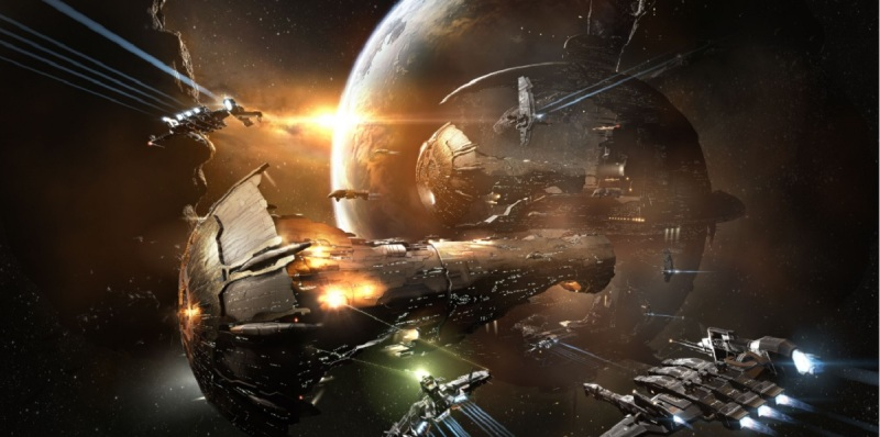 Amarr Titan in CCP's Eve Online.