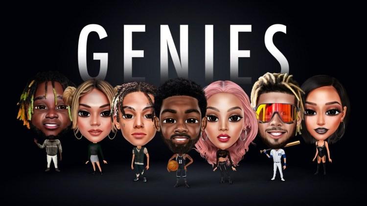 Genies creates digital avatars for celebrities, influencers, and athletes.