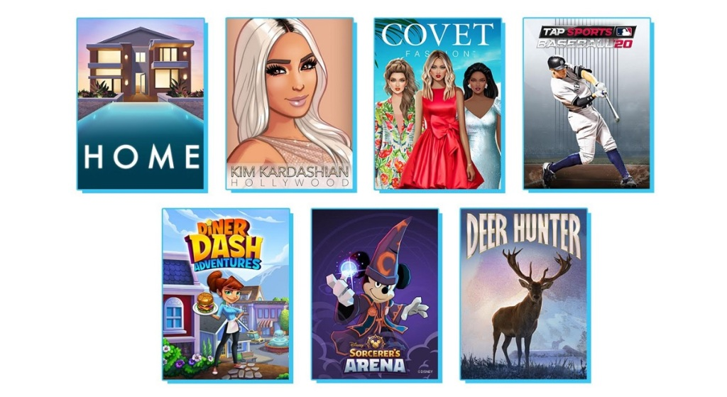 Glu Mobile's collection of games.