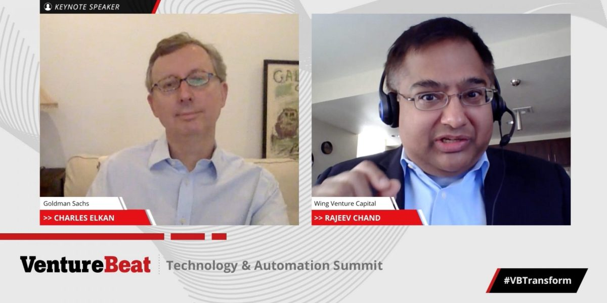 Goldman Sachs global head of ML Charles Elkan and Wing Venture Capital head of research Rajeev Chand discuss AI's role in finance at VentureBeat's Transform 2020 event.