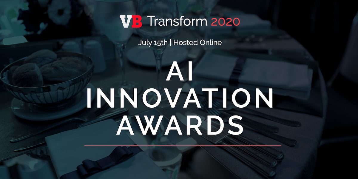 vb transform 2020 ai innovation awards