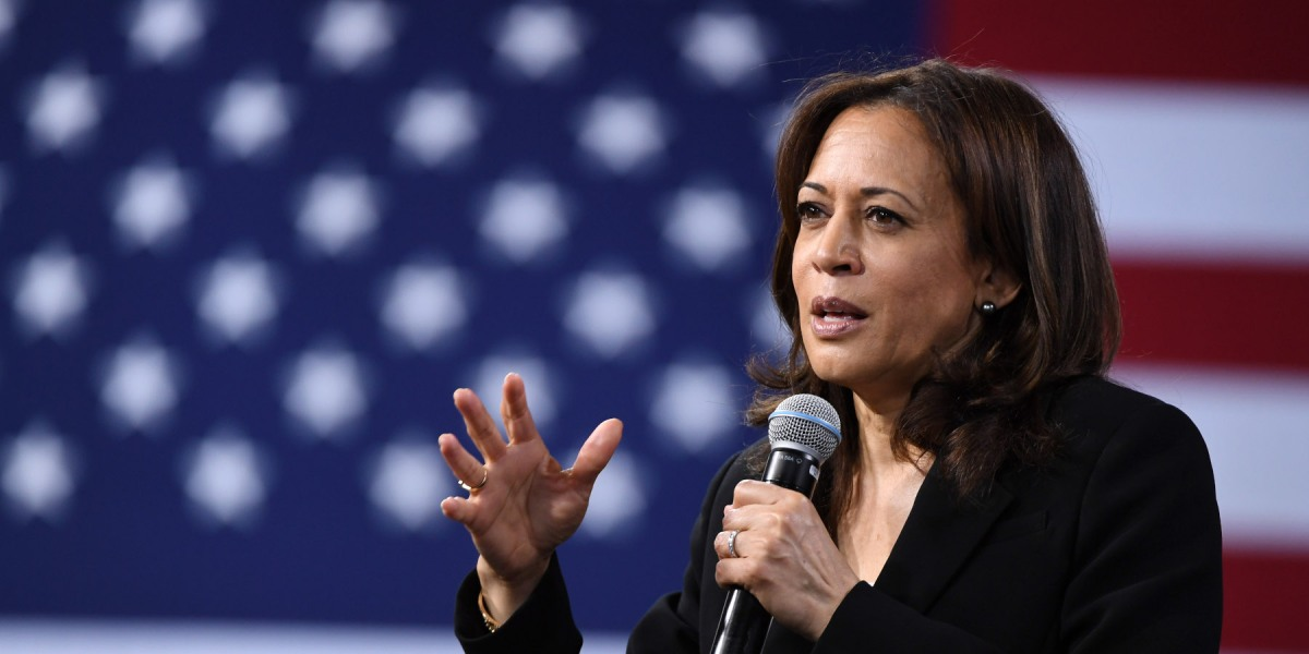 Sen. Kamala Harris (D-CA) speaks at the National Forum on Wages and Working People: Creating an Economy That Works for All at Enclave on April 27, 2019 in Las Vegas, Nevada.