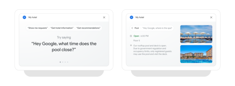 Google Assistant hospitality