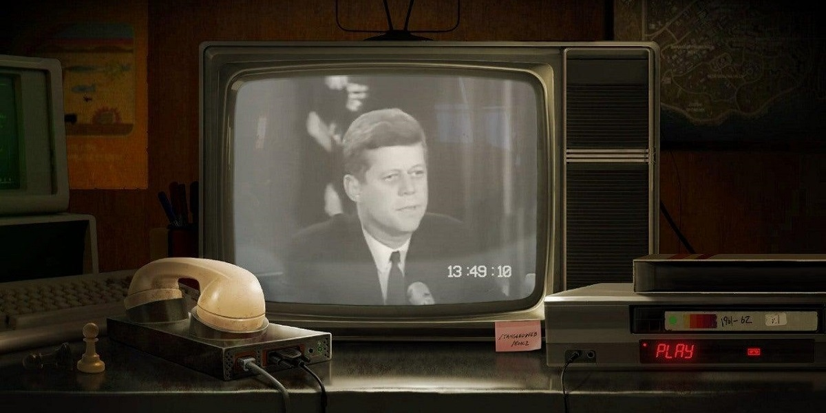 John F. Kennedy pictured in a teaser for the next Call of Duty game.