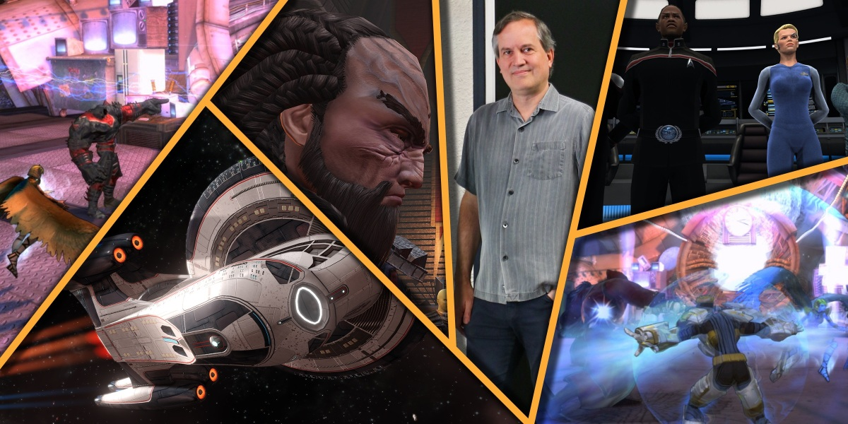 Steven D'Angelo, Cryptic CEO, used to show some of the work from Star Trek Online.
