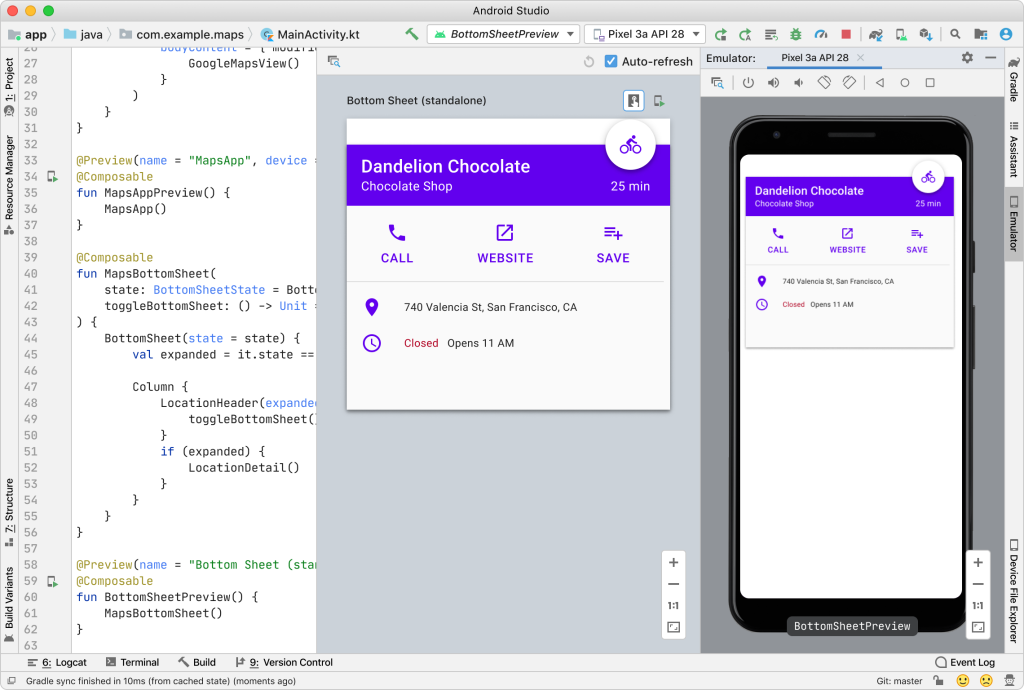 Jetpack Compose alpha Android Studio