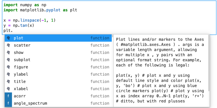 Kite JupyterLab code completions