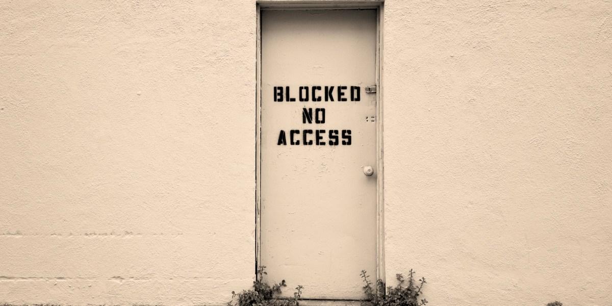 Door with no access