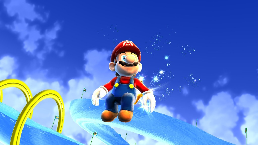 Mario flies, but he doesn't soar.