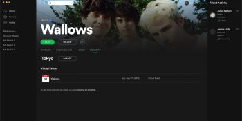 Spotify adds virtual event listings as COVID-19 threatens 2021 tours