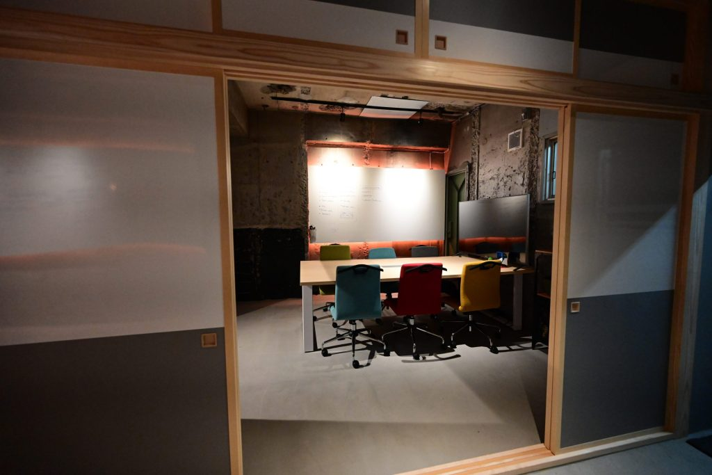 Asobu's Shibuya work space.