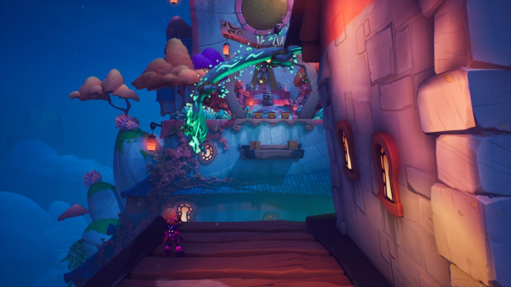 Crash's levels are full of color and character.