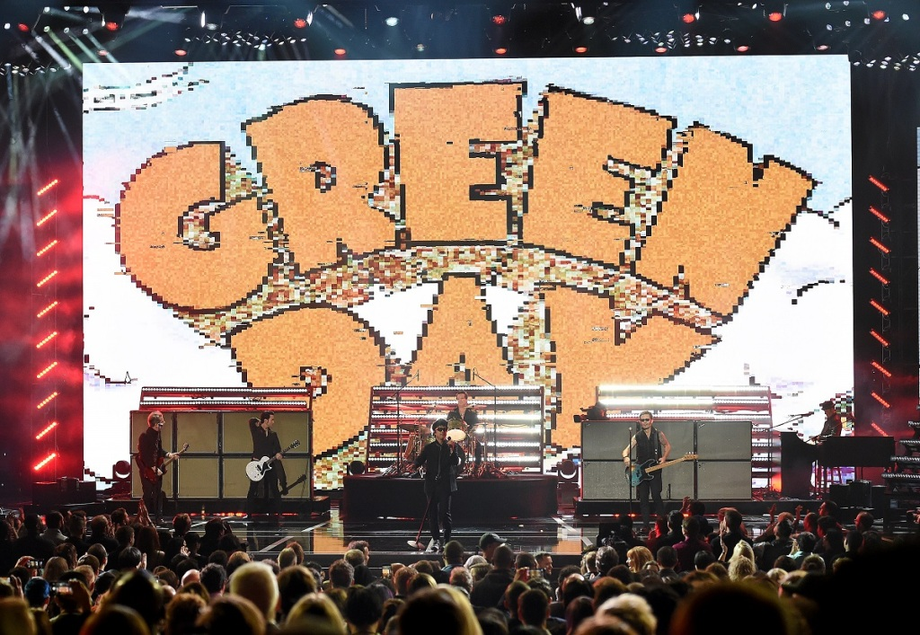 LOS ANGELES- DECEMBER 12: Green Day performs on the Game Awards 2019 at the Microsoft Theater on December 12, 2019 in Los Angeles, California. (Photo by Frank Micelotta/PictureGroup)