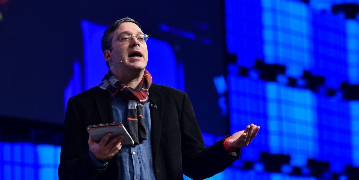 DUBLIN, IRELAND - NOVEMBER 5: Gary Marcus speaking during the Web Summit 2014