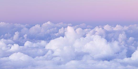 Dawn over Cumulus Clouds on Hawaii