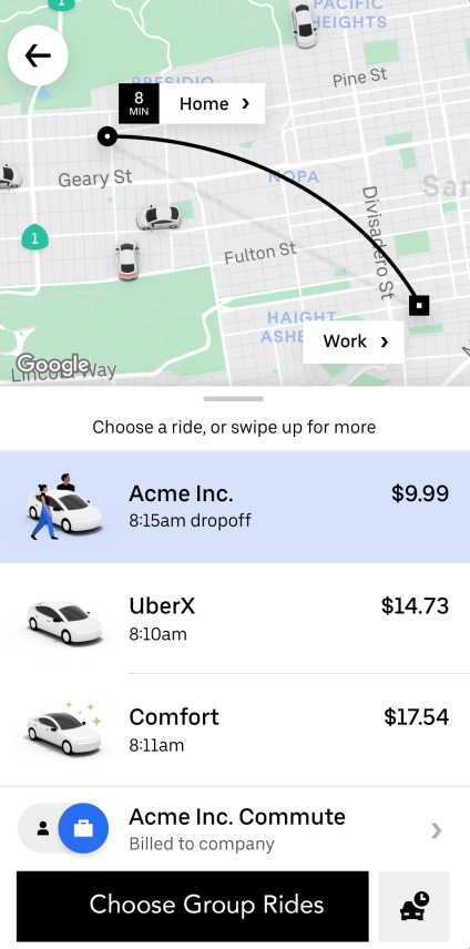 UBER FOR BUSINESS PILOTS COWORKER CARPOOLS TO GET PEOPLE BACK TO THE OFFICE
