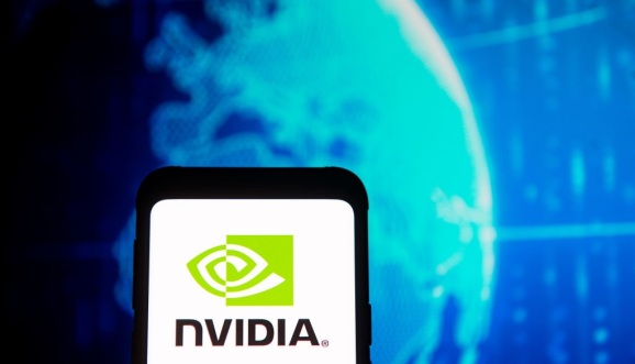 Nvidia logo on phone