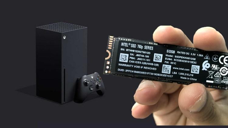 Testing storage on the Xbox Series X.
