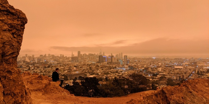 San Francisco's orange sky on 9/9/2020.