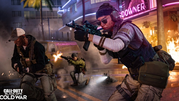 Battle in South Beach in Call of Duty: Black Ops -- Cold War.