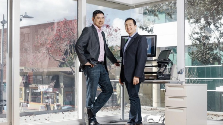 Carey Lai (left) and Paul Yeh of Conductive Ventures.