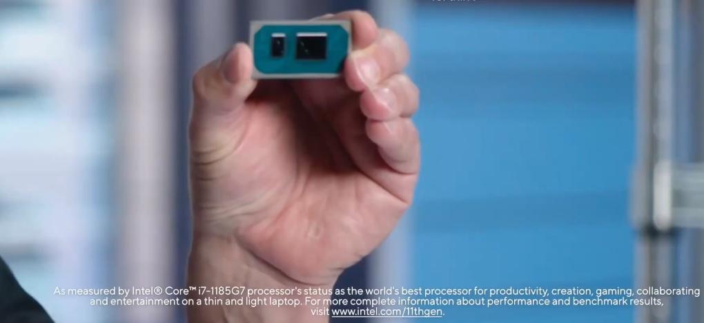 Intel's Tiger Lake processor (pictured Intel Core i7-1185G7).