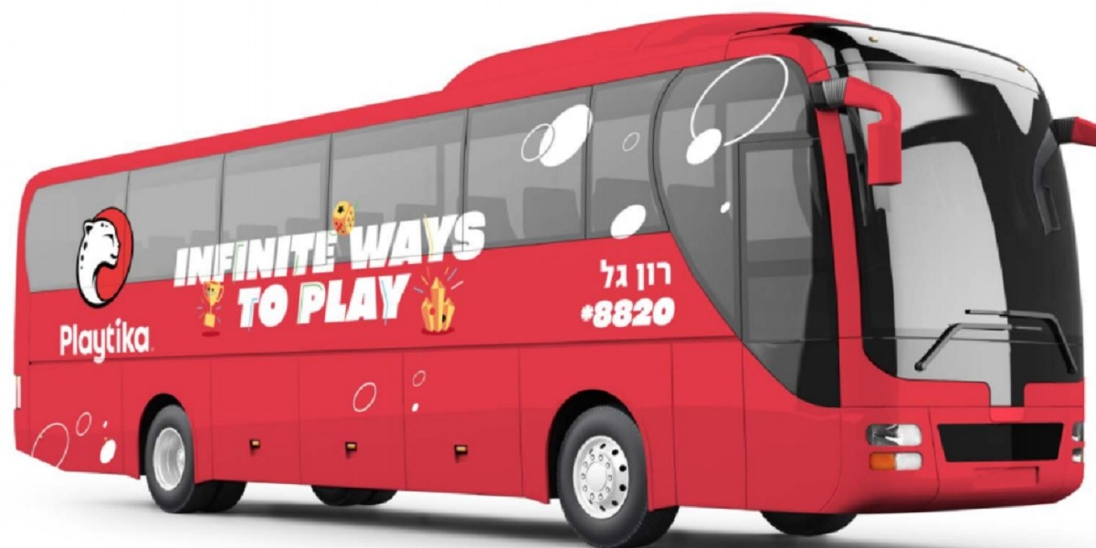Playtika's employee bus.