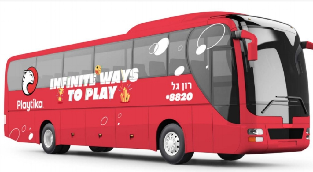 Playtika's employee bus.