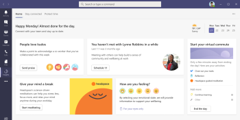 Microsoft Teams is getting virtual commutes and Headspace meditation
