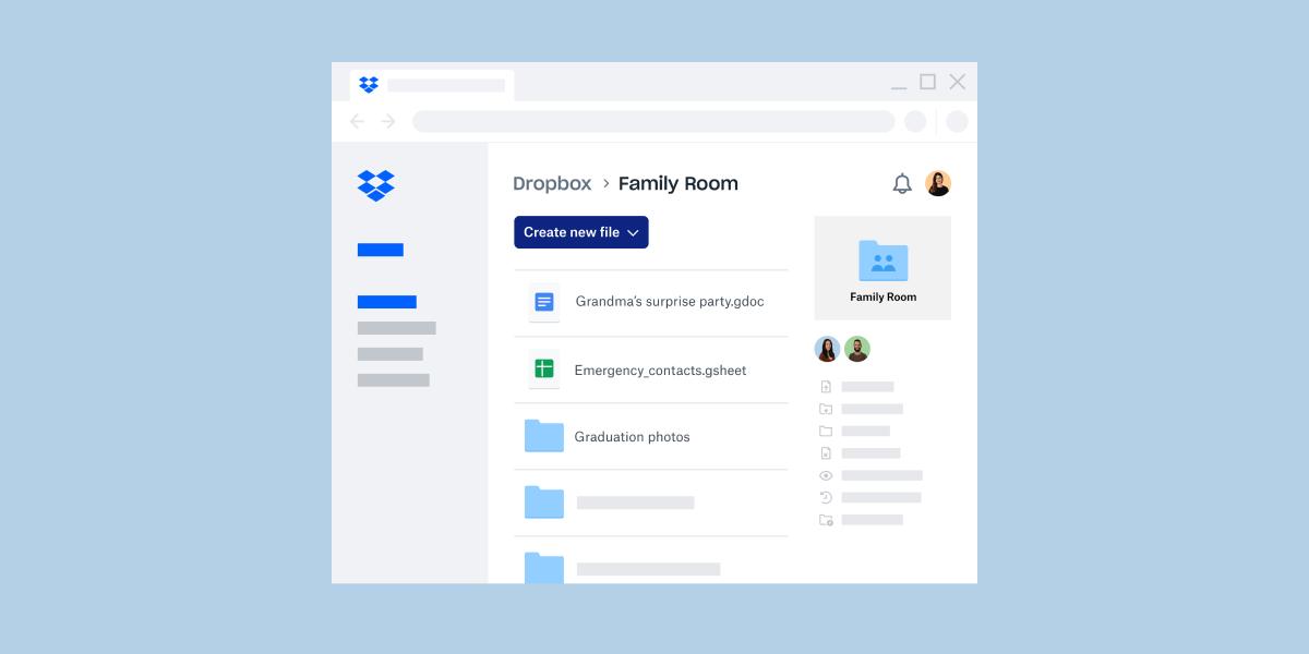 Dropbox Family Plan