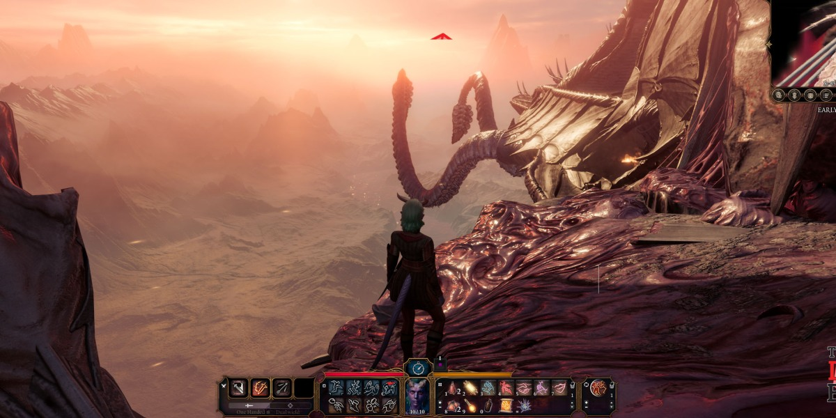 I found this vista enchanting. I've never seen this point of view of ... well, you'll see... from an illithid nautiloid.