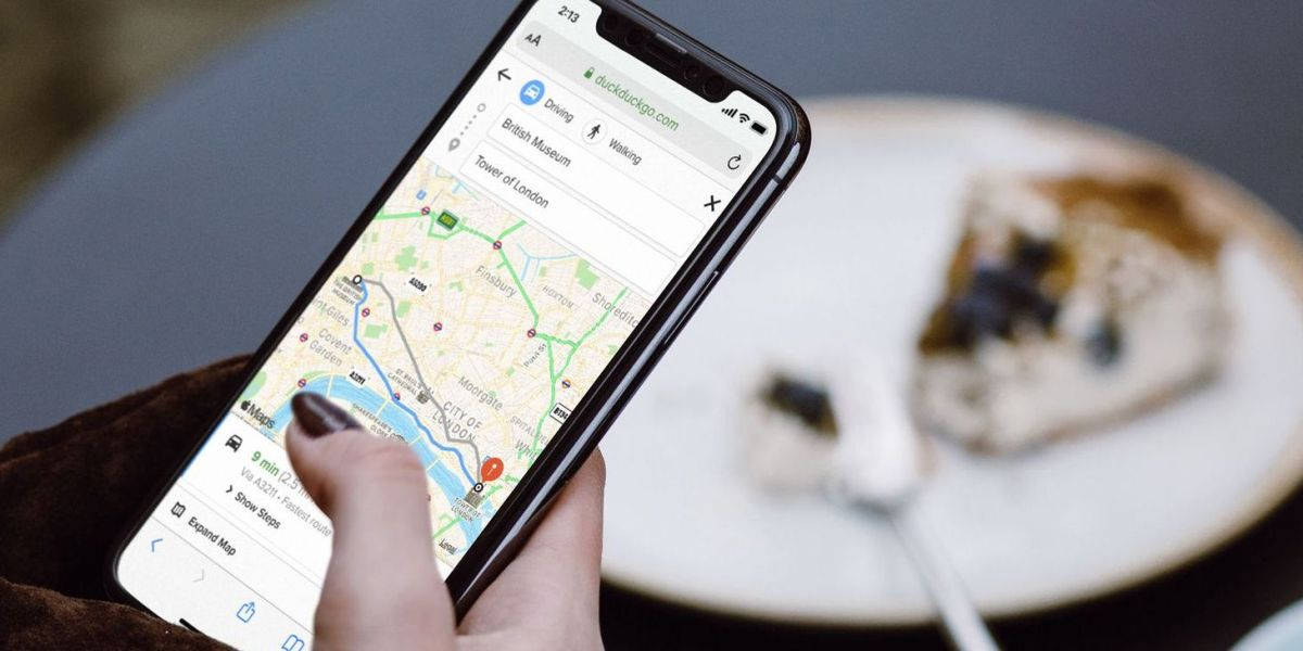 DuckDuckGo: Directions powered by Apple Maps