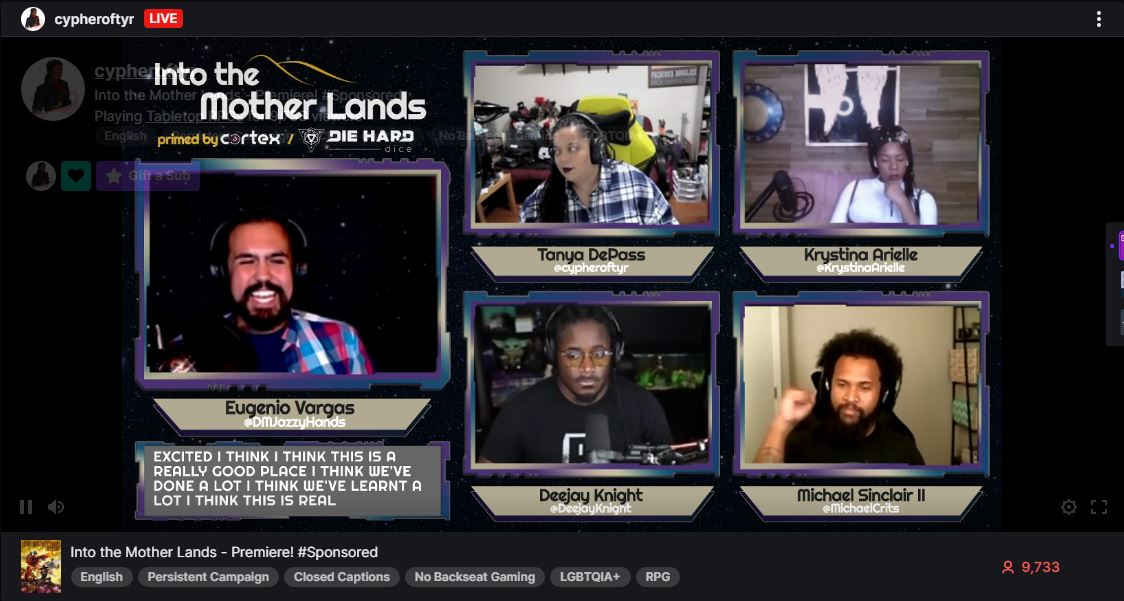 Into the Mother Lands interview: Twitch invests in an RPG show led by people of color