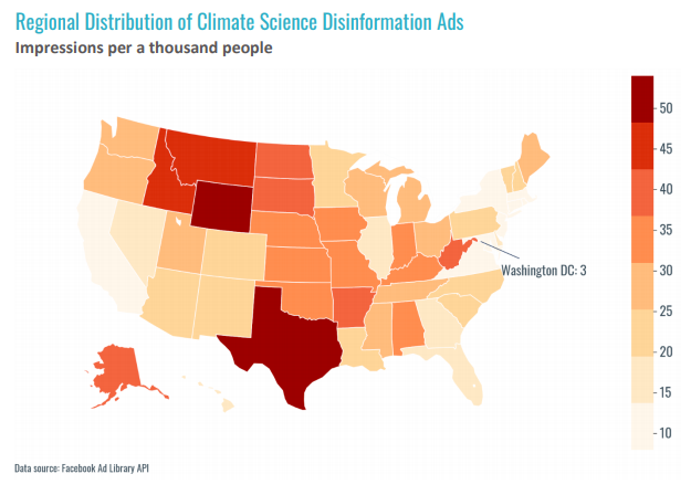 Facebook climate ads