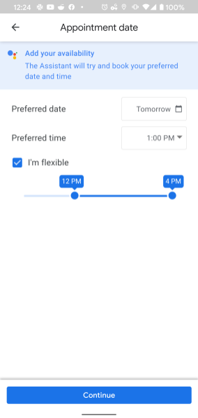 Google Assistant haircut booking