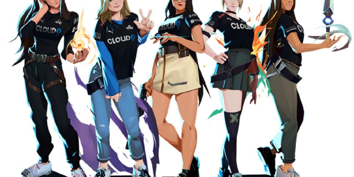 Cloud9's all-female Valorant esports team.
