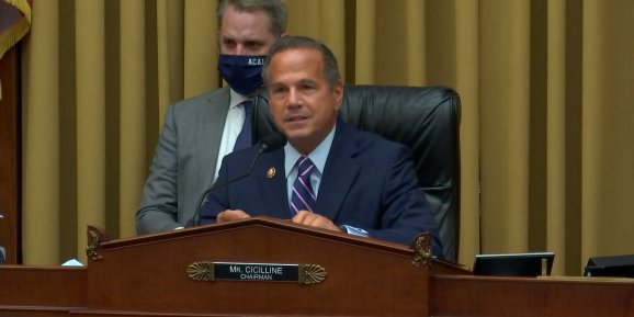 Antitrust, Commercial and Administrative Law subcommittee chair David Cicilline (D-RI) at an Oct. 1 hearing