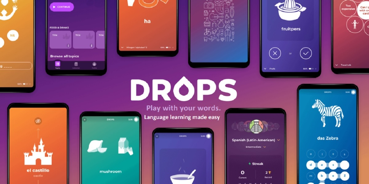 Drops is available on mobile and the web.