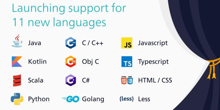 Kite gets 11 more programming languages