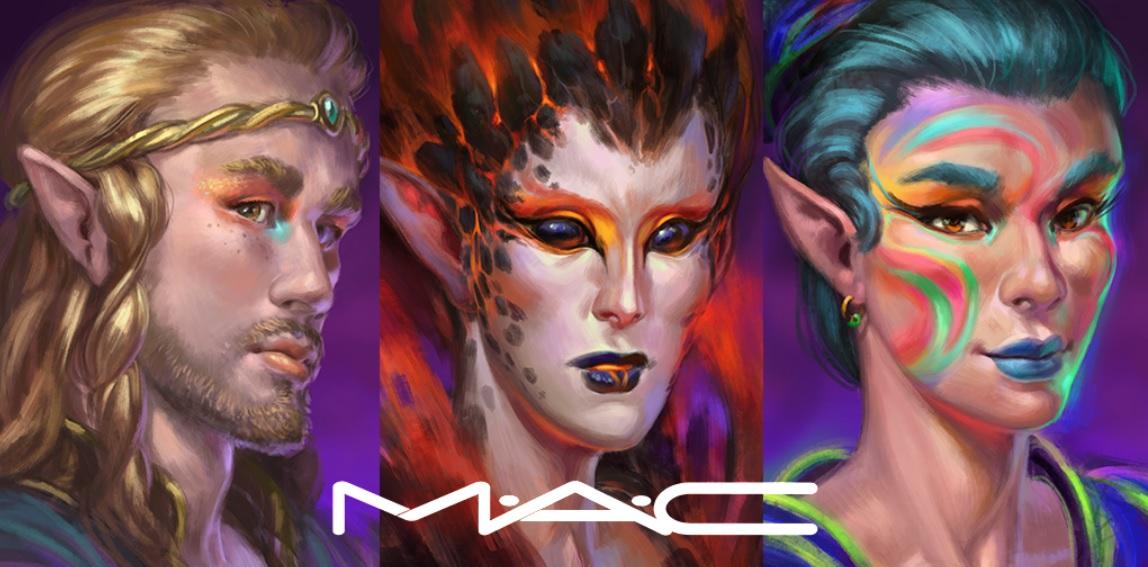MAC makeup adorns Elvenar characters.