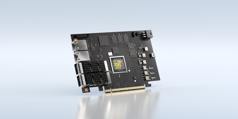 The Nvidia BlueField-2 DPU.