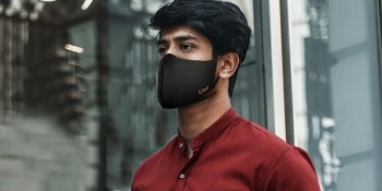 This Copper.Ion mask employs antimicrobial copper to kill bacteria and viruses dead